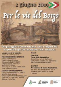 """""""Per le vie del Borgo"""": Cannara-locandina"""