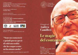 All'Università per Stranieri di Perugia l'omaggio a Camilleri-brochure