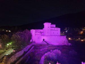 Rocca Flea illuminata di Rosa-inRocca Flea illuminata di Rosa-in