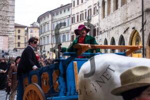 La sfilata del carro in una delle passate edizioni della Giornata del Bartoccio