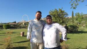 Da sinistra chef Lorenzo Cantoni e Paolo Trippini